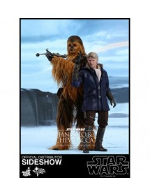 HOT TOYS  STAR WARS - HAN SOLO & CHEWBACCA EPISODE VII