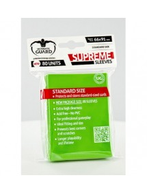 BUSTINE COPRI CARTE  ULTIMATE GUARD - SUPREME SLEEVES STAND.LIGHT GREEN (80)