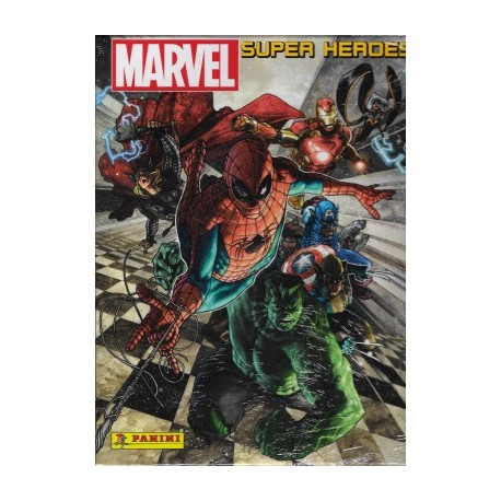 MARVEL SUPER HEROES STICKER ALBUM  ALBUM CARTONATO