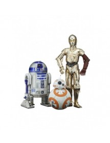 STAR WARS ARTFX SCALE1/10  R2-D2 & C-3PO WITH BB-8