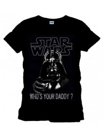 T-SHIRT  STAR WARS  - WHO'S YOUR DADDY? TG.L