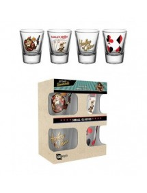 TAZZA DC HARLEY QUINN SET 4 SHOT GLASSES