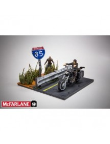 WALKING DEAD BUILDING SETS (THE)  DARYL WITH CHOPPER