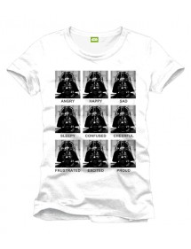 T-SHIRT  STAR WARS ANGRY HAPPY SAD PORTRAITS TG. M