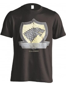 T-SHIRT  GAME OF THRONES -  STARK COAT OF ARMS TG L