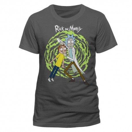 T-SHIRT  RICK AND MORTY - SPIRAL T TG L