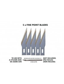 ACCESSORI PER MODELLISMO  VALLEJO: FINE POINT BLADES (5) FOR NO.1 HANDLE