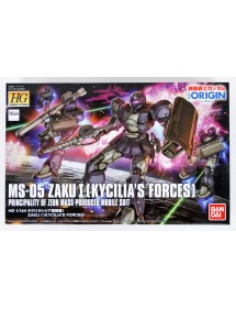 HG GUNDAM THE ORIGIN HIGH GRADE SCALA 1/144 18 MS-5 ZAKU I (KYCILIA'S FORCES)