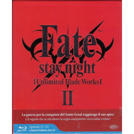 FATE STAY NIGHT UNLIMITED BLEDE WORKS  STAGIONE 2 LIMITED EDITION BOX BLU-RAY