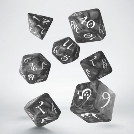 DADI  CLASSIC RPG DICE SET - SMOKY & WHITE