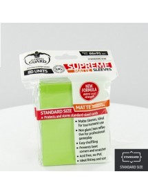 BUSTINE COPRI CARTE  ULTIMATE GUARD - SUPREME SLEEVES STANDARD SIZE VERDE CHIARO