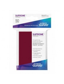 BUSTINE COPRI CARTE  ULTIMATE GUARD - SUPREME SLEEVES STANDARD SIZE BORGOGNA