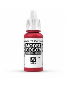 MODEL COLOR  Transparent Red - colore acrilico 17 ml