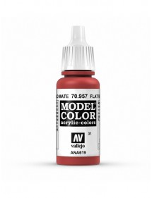 MODEL COLOR  Flat Red - colore acrilico 17 ml