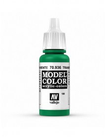 MODEL COLOR  Transparent Green - colore acrilico 17 ml