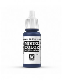 MODEL COLOR  Transparent Blue - colore acrilico 17 ml