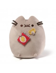 PUSHEEN THE CAT  PELUCHE WITH POTATO CHIPS