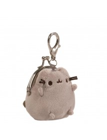 PUSHEEN THE CAT  GRAY COIN PURSE - PORTAMONETE GRIGIO PELUCHE
