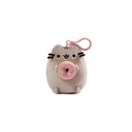 PUSHEEN THE CAT  PELUCHE DONUT CLIP PER ZAINO