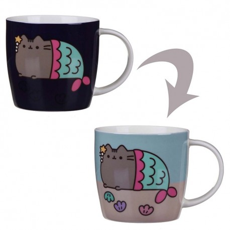 PUSHEEN THE CAT  TAZZA COLOUR CHANGING