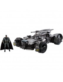 JUSTICE LEAGUE ULTIMATE BATMOBILE  VEICOLO + FIGURE