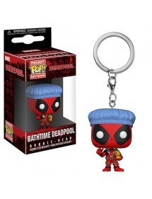 POP POCKET KEYCHAIN  BATHTIME DEADPOOL