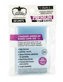 BUSTINE COPRI CARTE  ULTIMATE GUARD - 60 STANDARD AMERICAN BOARD GAME SIZE
