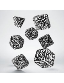 DADI  FOREST DICE SET WHITE E BLACK
