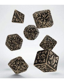 DADI  FOREST DICE SET BEIGE E BLACK
