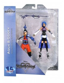 DISNEY SELECT  15 TH ANNIVERSARY KINGDOM HEARTS AQUA & GOOFY