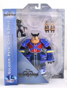 DISNEY SELECT 15 TH ANNIVERSARY KINGDOM HEARTS SOLDIER - PETE CHIP & DALE