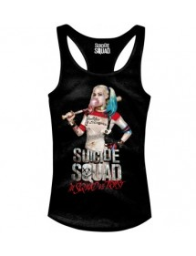 T-SHIRT  SUICIDE SQUAD HARLEY QUINN CANOTTA IN SQUAD WE TRUST TG. M