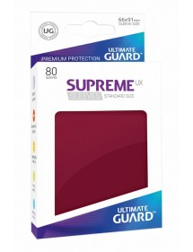 BUSTINE COPRI CARTE  ULTIMATE GUARD - 80 SUPREME SLEEVES BURGUNDY (66X91MM)