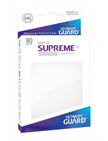 BUSTINE COPRI CARTE  ULTIMATE GUARD - 80 SUPREME SLEEVES MATTE WHITE (66X91MM)