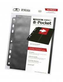 BUSTINE COPRI CARTE  8-POCKET COMPACT PAGES SIDE-LOADING NERO