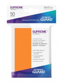 BUSTINE COPRI CARTE  Ultimate Guard Supreme UX Sleeves Standard Size Orange (50)