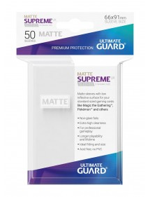 BUSTINE COPRI CARTE  Ultimate Guard Supreme UX Sleeves Standard Size Matte White