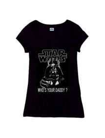 T-SHIRT  STAR WARS LADIES  - WHO'S YOUR DADDY  TG L