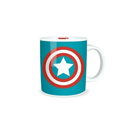TAZZA MARVEL  CAPITAN AMERICA LOGO SHIELD