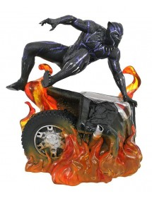 MARVEL GALLERY PVC DIORAMA  BLACK PANTHER FLAMING CAR