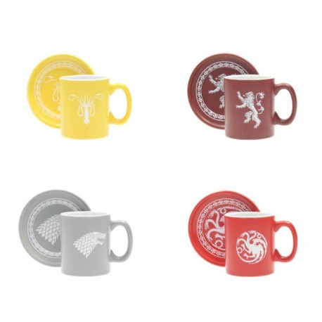 TAZZA  GAME OF THRONES - SET OF 4 ESPRESSO MUGS WITH SAUCER