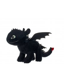 PELUCHE  DRAGON TRAINER 3 - TOOTHLESS 32CM GLOW IN THE DARK