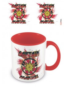 TAZZA MARVEL  CAPTAIN MARVEL COLOURED