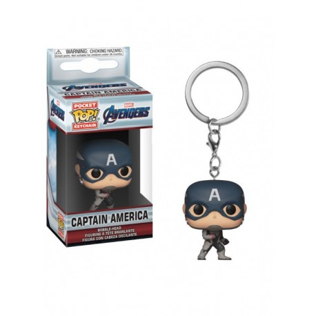 POP POCKET KEYCHAIN  AVENGERS ENDGAME CAPTAIN AMERICA