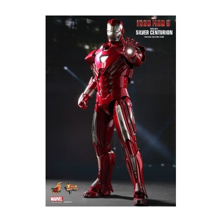 HOT TOYS  IRON MAN 3 SILVER CENTURION MARK XXXIII