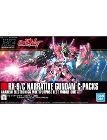 HG GUNDAM UNIVERSAL CENTURY SCALA 1:144 222 RX-9/C NARRATIVE GUNDAM C-PACKS