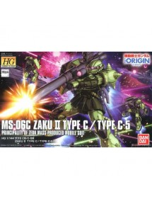 HG GUNDAM THE ORIGIN HIGH GRADE SCALA 1/144 25 MS-6C-6/R6 ZAKU II TYPE C-6/R6