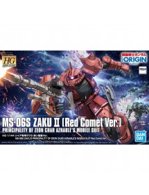 HG GUNDAM THE ORIGIN HIGH GRADE SCALA 1/144 24 MS-6S ZAKU II RED COMET VER.