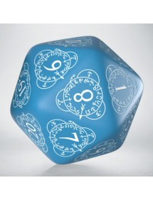 DADI  Q-WORKSHOP LIFE COUNTER DIE D20 BLUE&WHITE