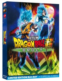 DRAGON BALL SUPER IL FILM - BROLY  LIMITED EDITION BLU-RAY+5 SPECIAL CARDS
